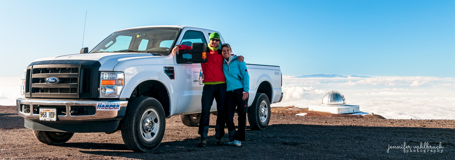 Heinz R. & Jennifer on top of Mauna Kea, Hawaii